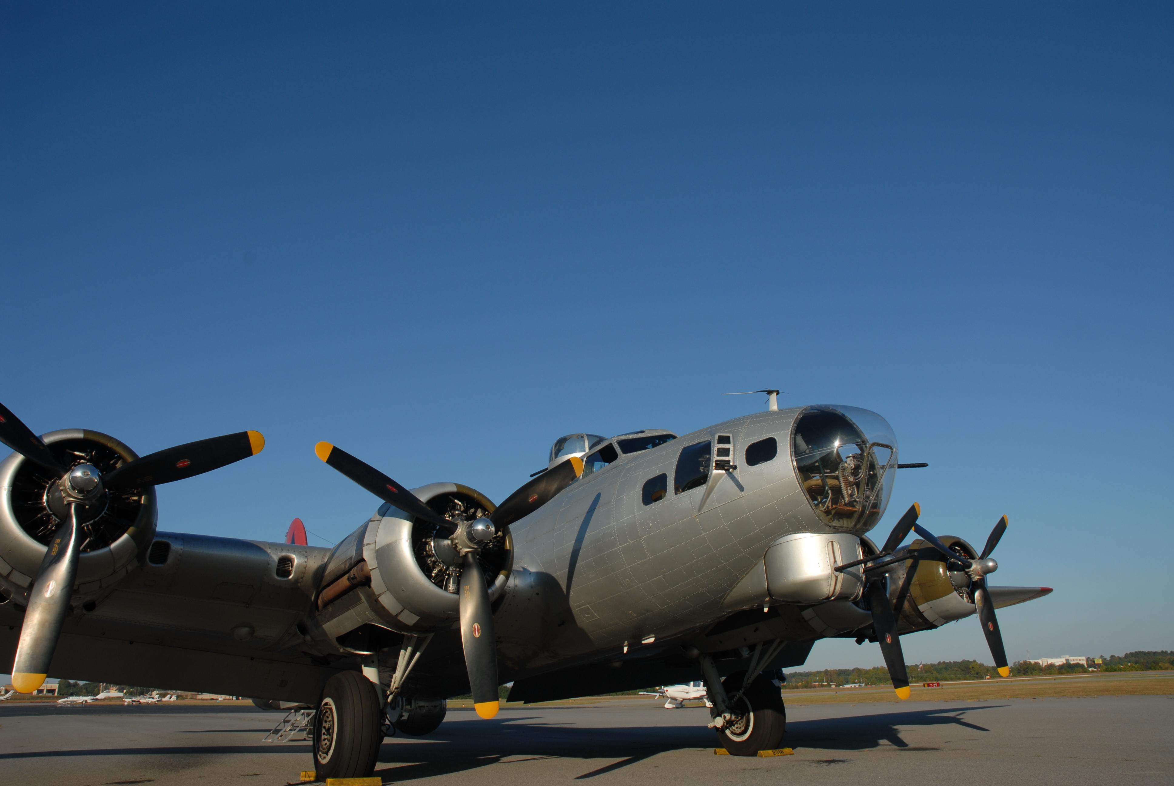 World War II B-17 Bomber, Aluminum Overcast